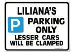 LILIANA'S Personalised Parking Sign Gift | Unique Car Present for Her |  Size Large - Metal faced